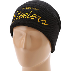SALE! $16.99 - Save $5 on Mitchell Ness NFL Throwbacks Script Cuffed Knit Hat Pittsburgh Steelers (Pittsburgh Steelers) Hats - 22.77% OFF $22.00