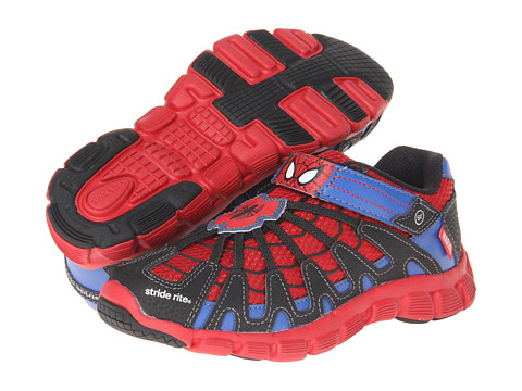 Stride Rite - Spiderman Web-Crawler (Toddler/Little Kid) (Red/Black/Blue) Boys Shoes