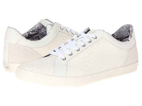 Just Cavalli - Matte Printed Python Low Top Trainer (White) Men's Lace up casual Shoes