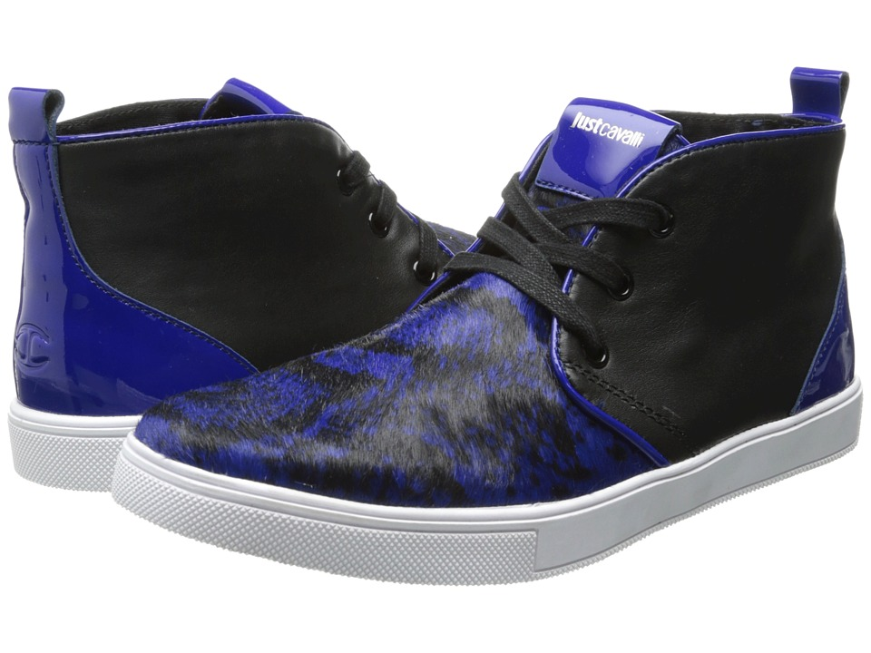 Just Cavalli - Python Printed Ankle Boot (Bluette) Men's Boots