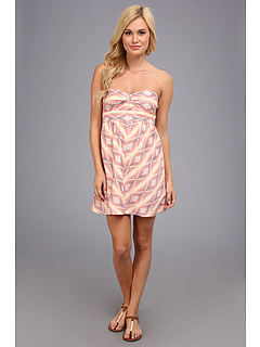 SALE! $19.8 - Save $30 on Roxy Sunburst Dress (Glow Pink Shadow Stripe) Apparel - 60.00% OFF $49.50
