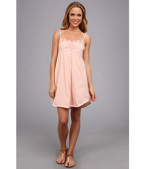 Roxy - Bright Looks Dress (Cantaloupe Mini Stripe) Women's Dress