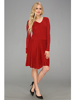 SALE! $39.99 - Save $58 on Vince Camuto Fit Flare Sweater Dress (Biking Red) Apparel - 59.19% OFF $98.00