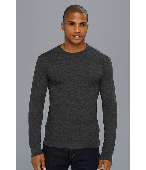 Hurley - Staple L/S Thermal (Heather Black) Men's T Shirt
