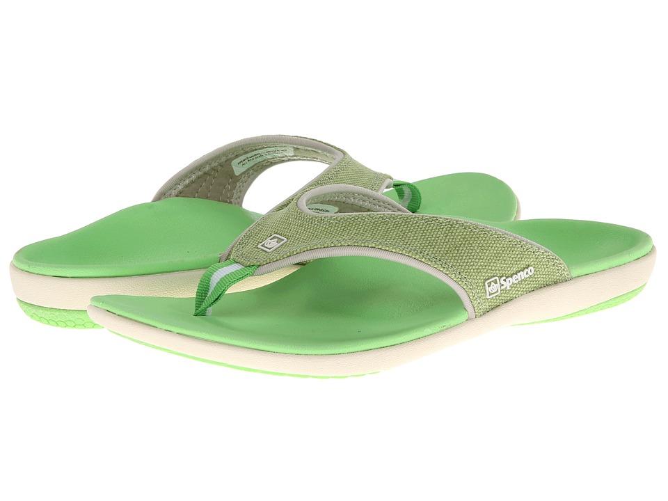 Spenco - Yumi Canvas (Lizard) Women's Toe Open Shoes