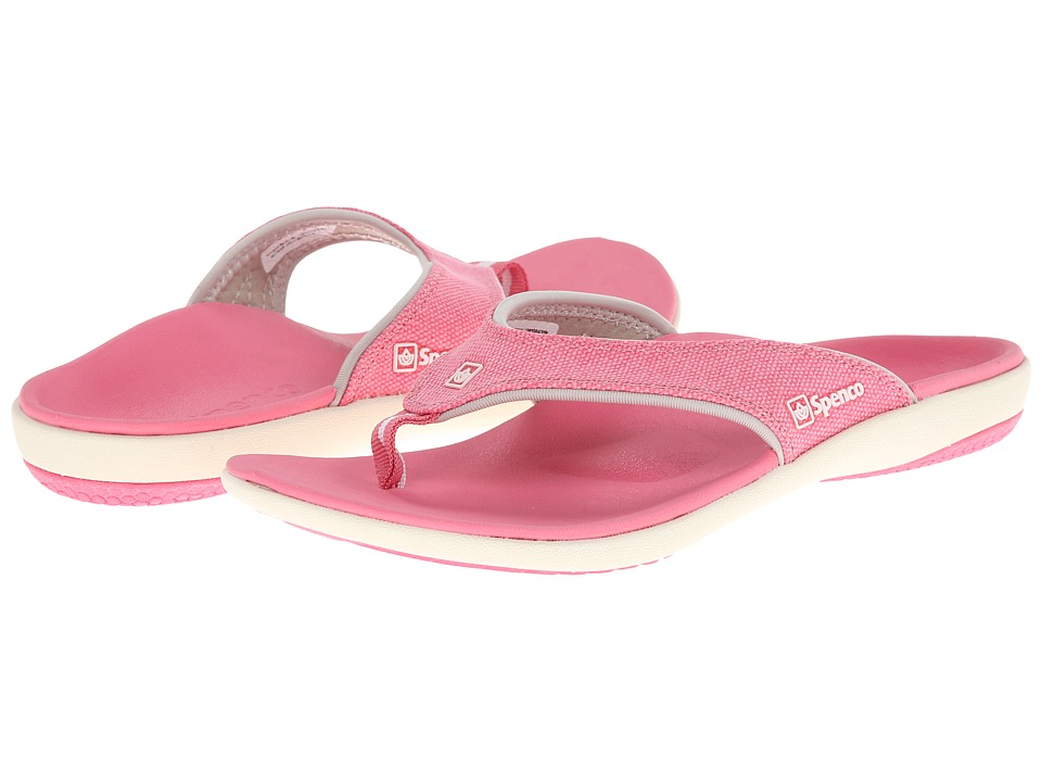 Spenco - Yumi Canvas (Pink) Women's Toe Open Shoes