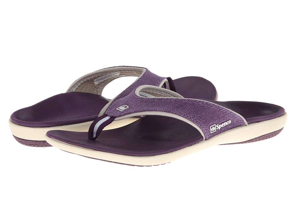 Spenco - Yumi Canvas (Deep Purple) Women's Toe Open Shoes