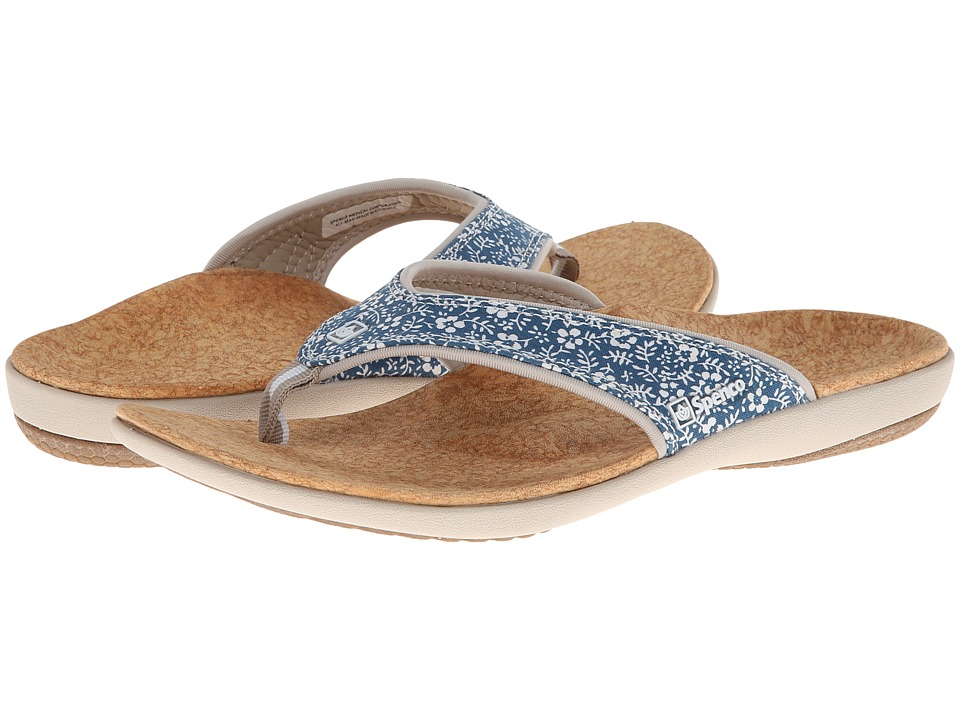 Spenco - Yumi Floral (Navy Floral Print) Women's Toe Open Shoes