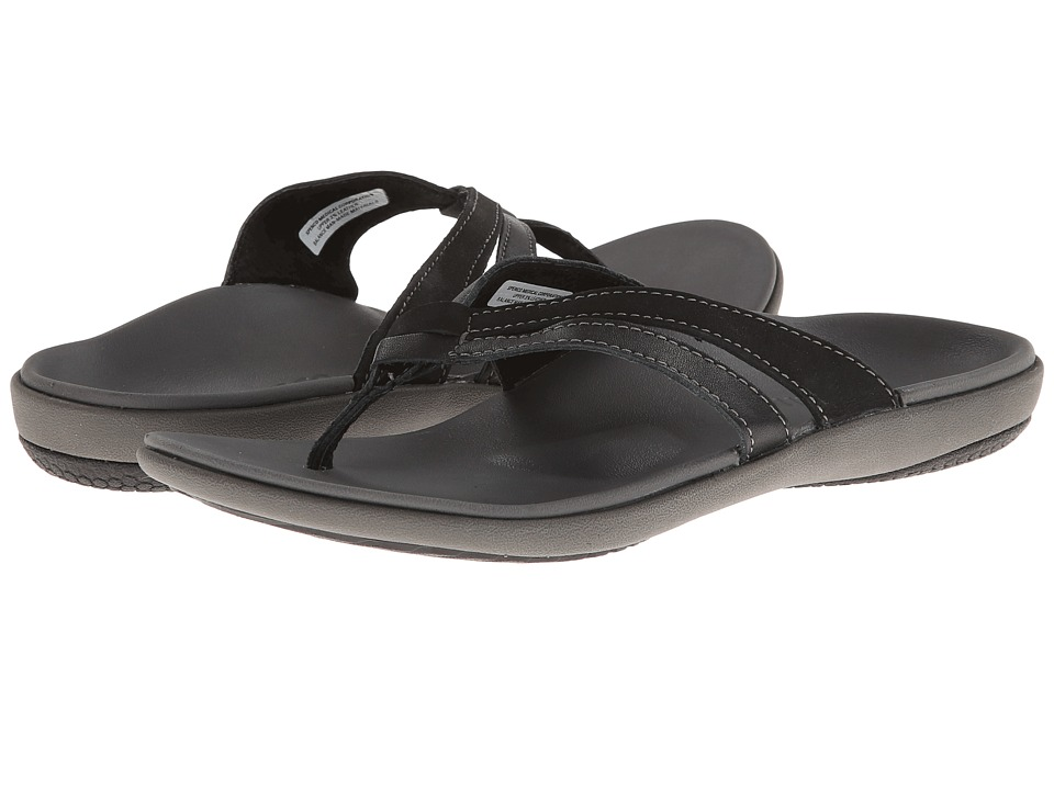 Spenco - Brooke (Black) Women's Toe Open Shoes