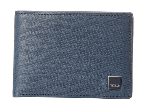 Tumi - Monaco - Slim Single Billfold (Cobalt/Cobalt/Academy) Bill-fold Wallet