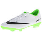Nike Kids Jr Mercurial Vapor IX FG (Little Kid/Big Kid) (White/Black/Electric Green)