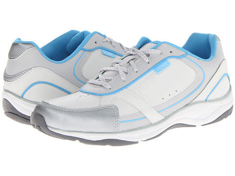 VIONIC with Orthaheel Technology - Zen Walker (White/Blue) Women's Shoes
