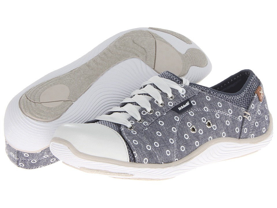 Dr. Scholl's - Jamie (Navy Chambray Open Dot Print on Chambray) Women's Lace up casual Shoes