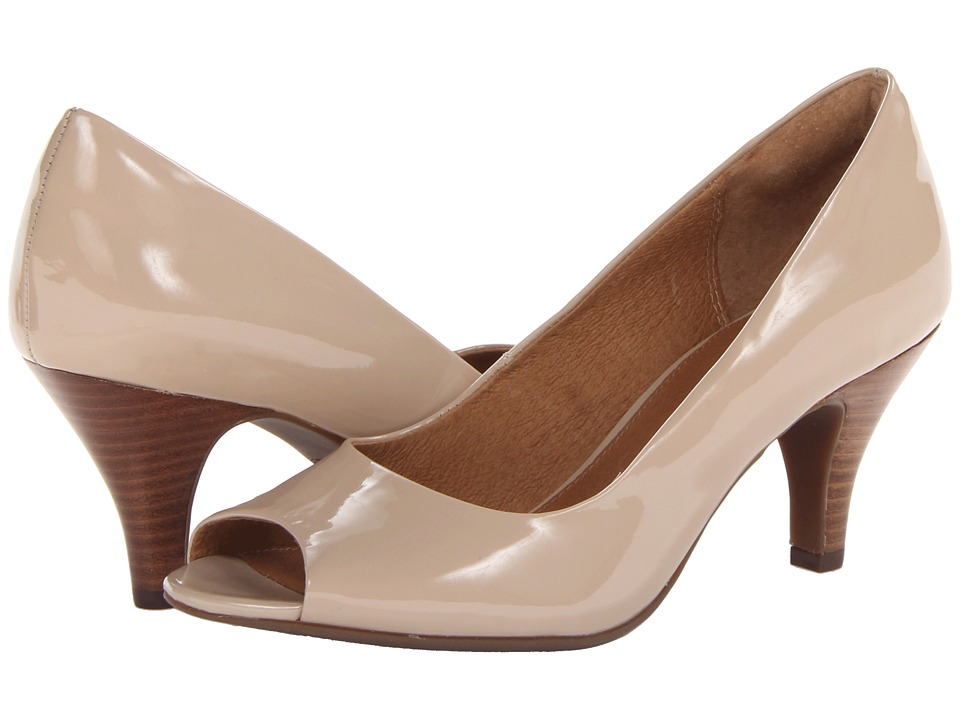 Clarks - Cynthia Avant (Nude Patent) Women's Toe Open Shoes