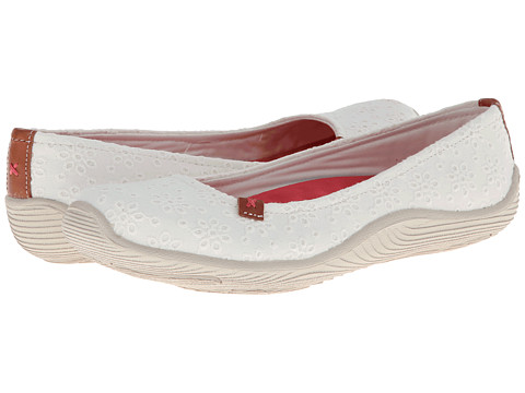 Dr. Scholl's - Joliet (White Eyelet Fabric) Women's Slip on Shoes