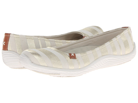 Dr. Scholl's - Joliet (Cream New Striped Fabric) Women's Slip on Shoes