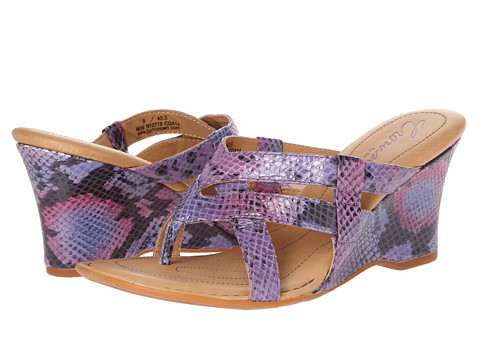 Born - Brescia - Crown Collection (Purple/Pink Snake) Women's Wedge Shoes