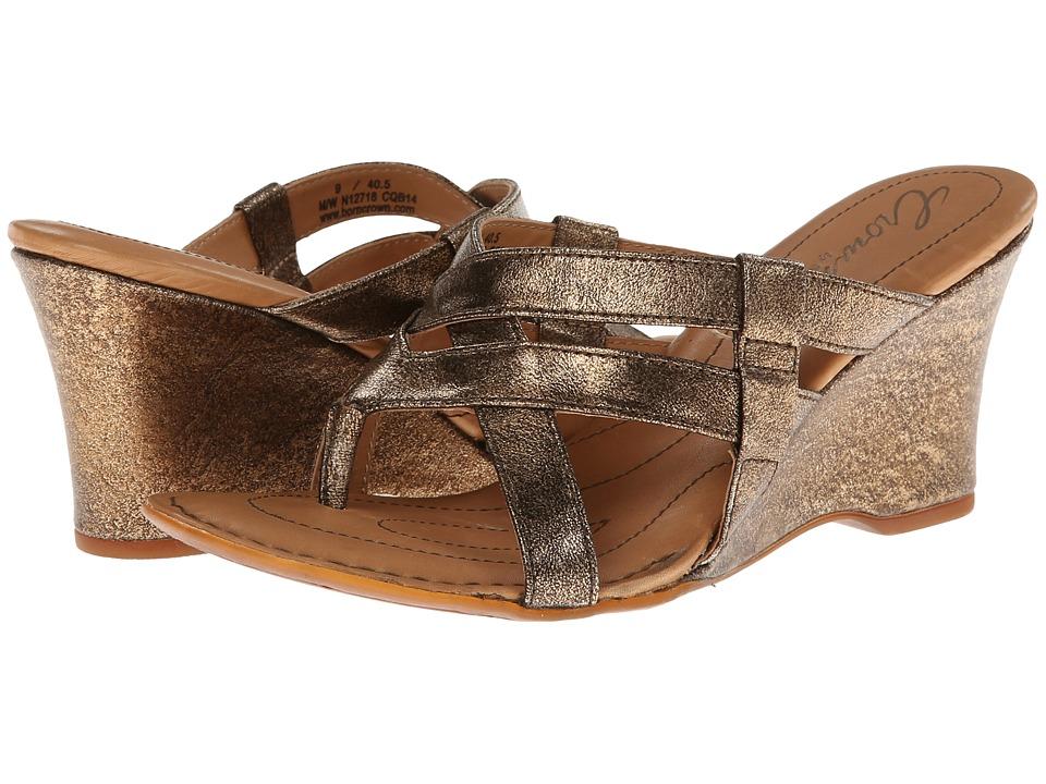 Born - Brescia - Crown Collection (Bronze Textured Metallic) Women's Wedge Shoes