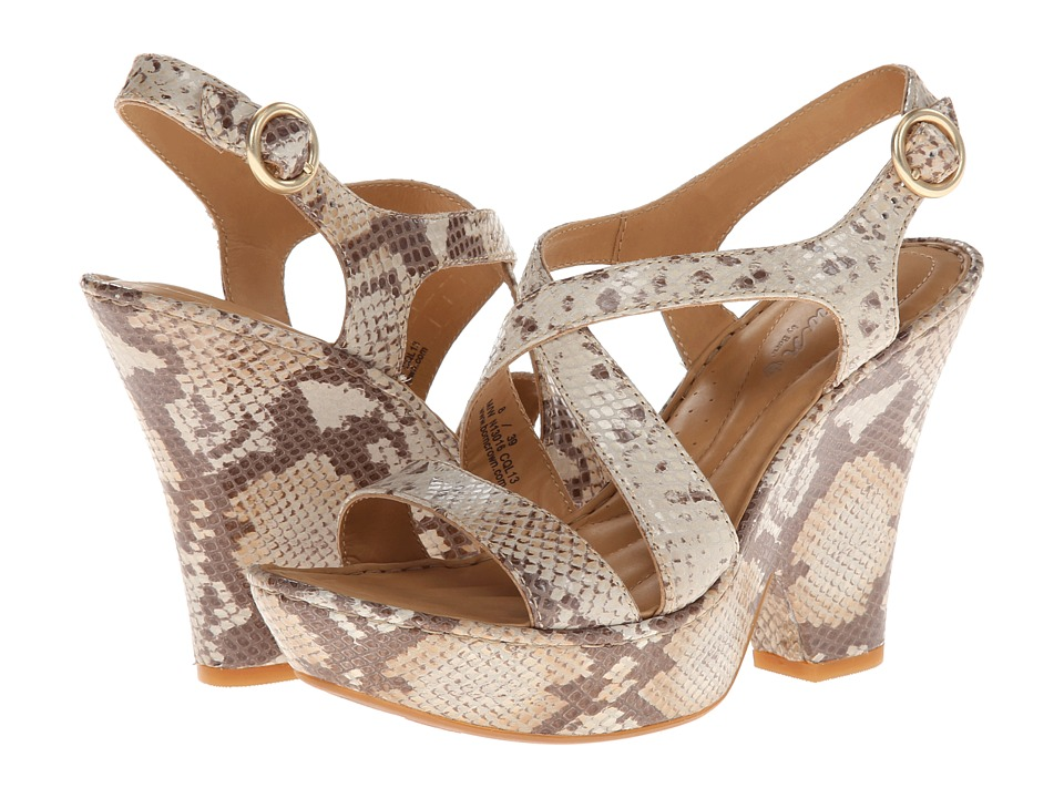 Born - Veronique - Crown Collection (Tan/Beige Snake) Women's Shoes
