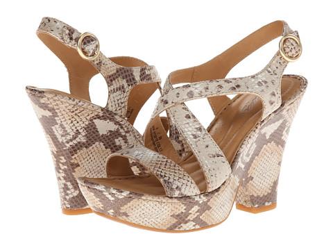 Born - Veronique - Crown Collection (Tan/Beige Snake) Women's Shoes