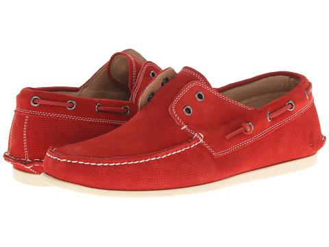 John Varvatos - Schooner Boat (Firebrick) Men's Slip on Shoes