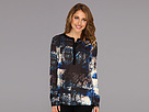 DKNY Jeans Midnight Shadow Print Top