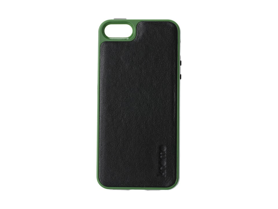 KNOMO London - Tech - Shell Case with Leather Back (Black) Cell Phone Case