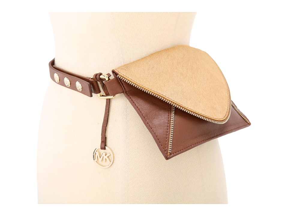 MICHAEL Michael Kors Michael Kors Envelope Belt Bag With Zipper Trim In Haircalf And Lamb Women's Belts
