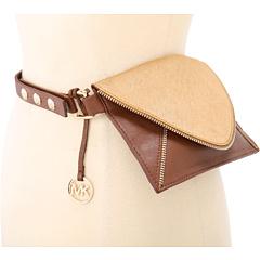 MICHAEL Michael Kors Michael Kors Envelope Belt Bag With Zipper Trim In Haircalf And Lamb (Luggage) Women's Belts