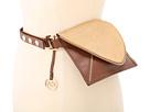MICHAEL Michael Kors - Michael Kors Envelope Belt Bag With Zipper Trim In Haircalf And Lamb (Luggage) - Apparel
