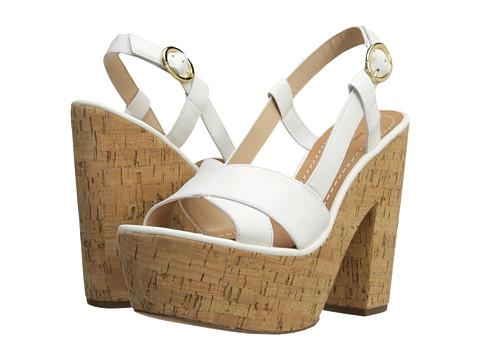 Diane von Furstenberg - Raleigh (White Vacchetta) High Heels