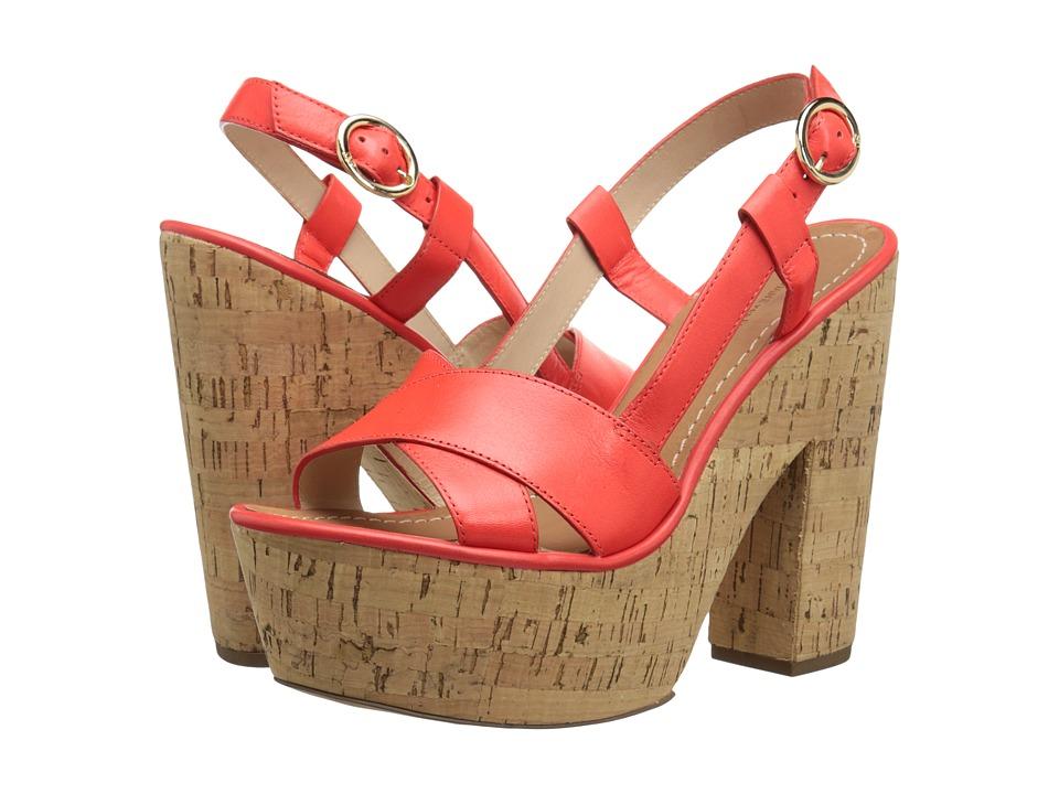 Diane von Furstenberg - Raleigh (Electric Tangerine Vacchetta) High Heels
