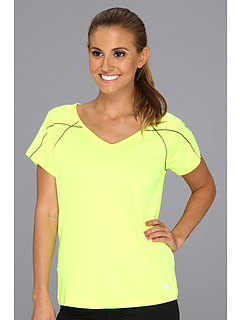 SALE! $13.3 - Save $25 on Fila Day Glo Cap Sleeve Top (Safety Yellow Ebony) Apparel - 65.00% OFF $38.00