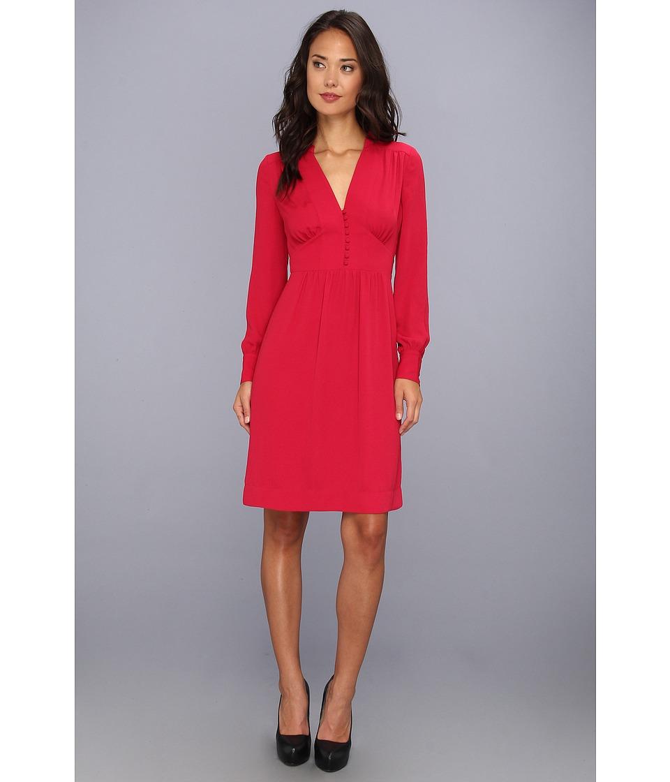 BCBGMAXAZRIA Fabiana Long Sleeve Dress (Sangria) Women