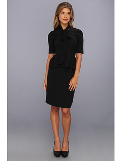 SALE! $134.99 - Save $263 on BCBGMAXAZRIA Denisa Tie Neck Dress (Black) Apparel - 66.08% OFF $398.00