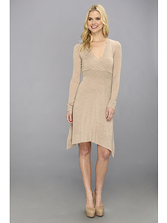 SALE! $79.99 - Save $258 on BCBGMAXAZRIA Sandra V Neck Sweater Dress (Light Heather Camel) Apparel - 76.33% OFF $338.00
