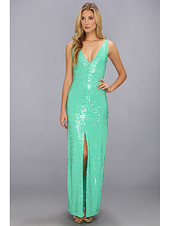SALE! $149.99 - Save $298 on BCBGMAXAZRIA Sumner Knit Evening Dress (Light Aqua Combo) Apparel - 66.52% OFF $448.00