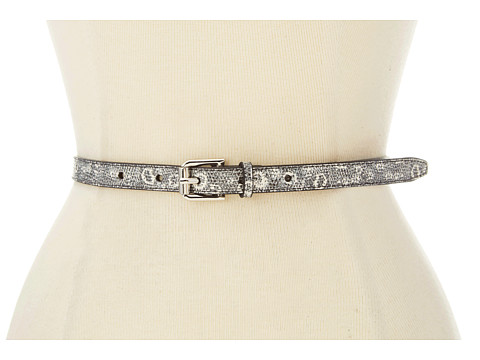 Cole Haan - Novelty Skinny Belt 1/2 (Natural Ring Lizard Print) Women