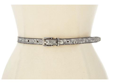Cole Haan - Novelty Skinny Belt 1/2 (Natural Ring Lizard Print) Women's Belts
