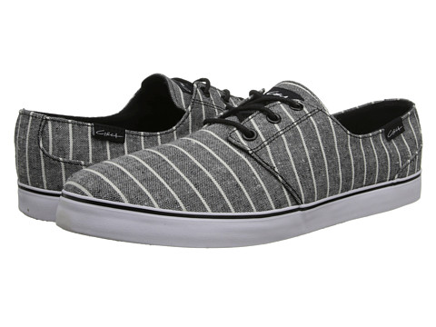 Circa - Crip (Black/White/Stripes) Men's Skate Shoes