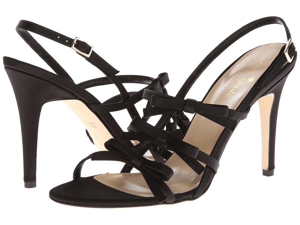 Kate Spade New York - Sally (Black Satin) High Heels