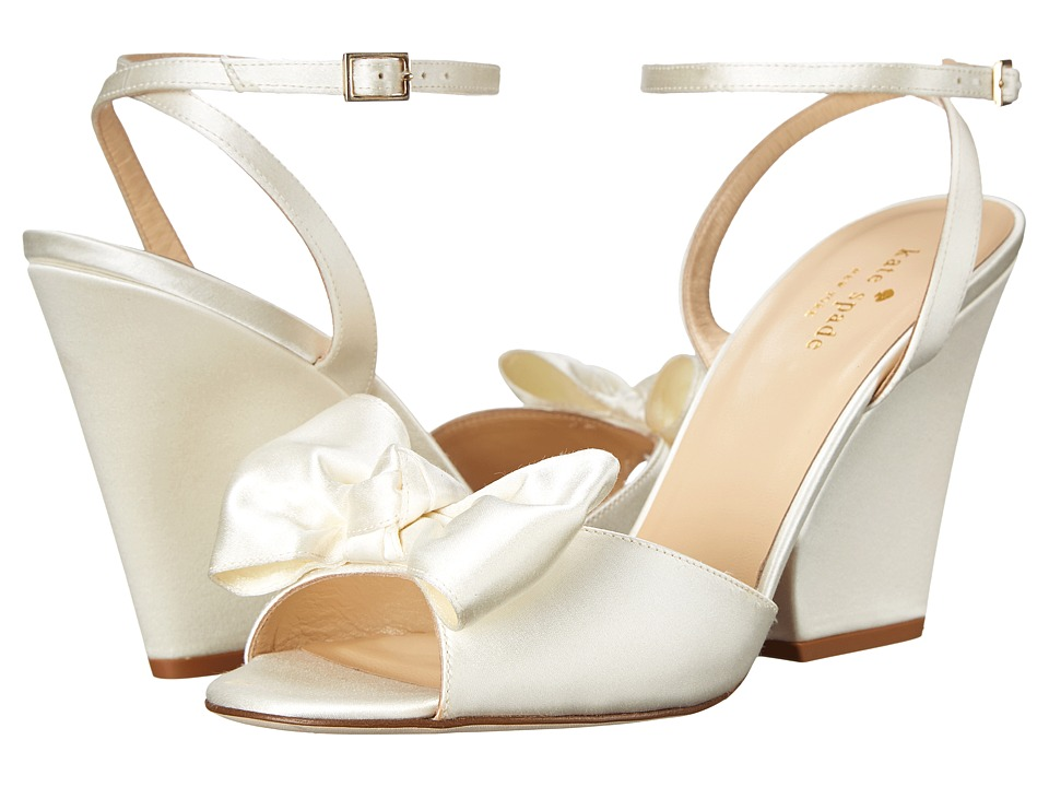 Kate Spade New York - Iberis (Ivory Satin) Women's Wedge Shoes
