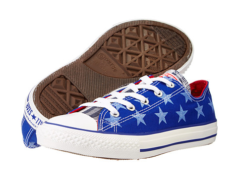 Converse Kids - Chuck Taylor All Star Ox (Little Kid/Big Kid) (Radio Blue/White) Kid's Shoes