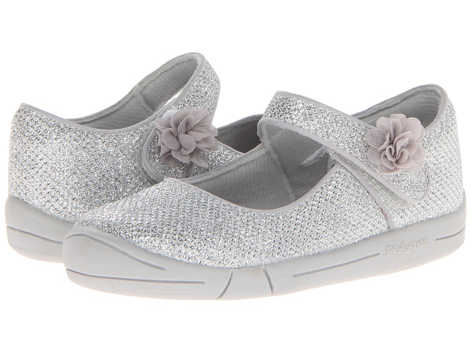 Jumping Jacks Kids - Sylvia (Toddler) (Shiny Silver Glitter) Girl's Shoes