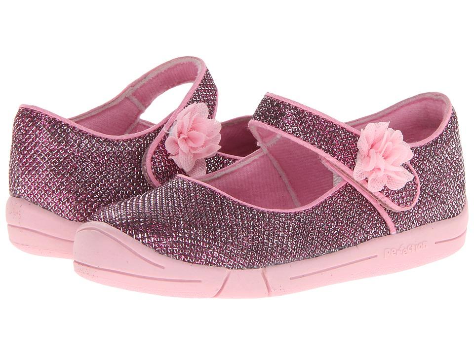 Jumping Jacks Kids - Sylvia (Toddler) (Pink Glitter/Pink Trim) Girl's Shoes