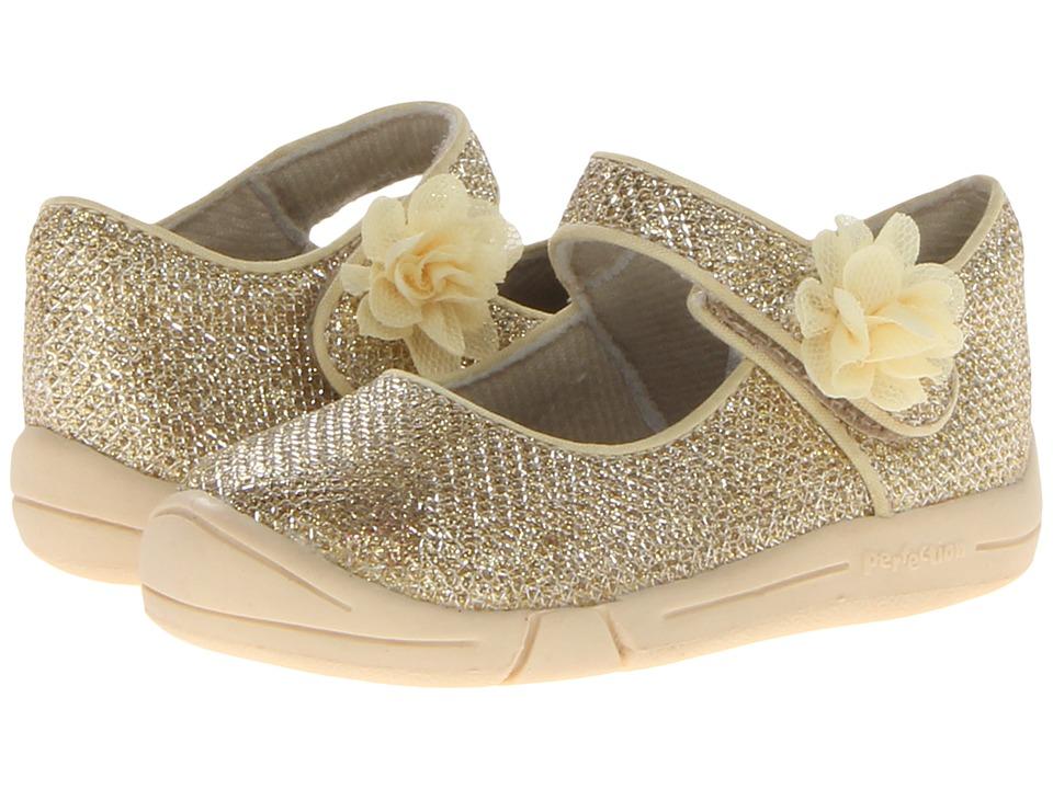 Jumping Jacks Kids - Sylvia (Toddler) (Soft Gold Metallic Glitter) Girl's Shoes