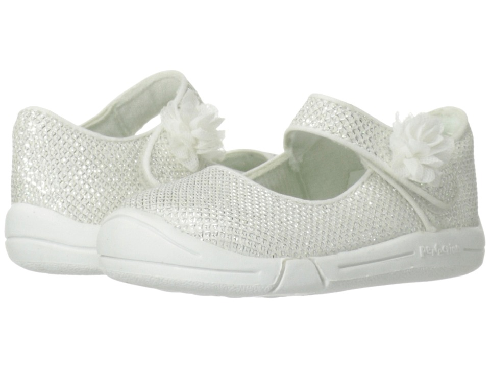 Jumping Jacks Kids - Sylvia (Toddler) (White Glitter) Girl's Shoes