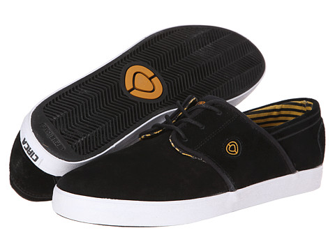 Circa - Strata (Black/Inca Gold) Men's Skate Shoes