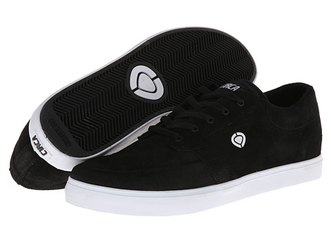 Circa - Transit (Black/White) Men's Skate Shoes