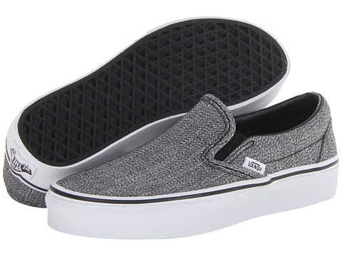 Vans - Classic Slip-On (Black/True White (Suiting Grindle)) Skate Shoes
